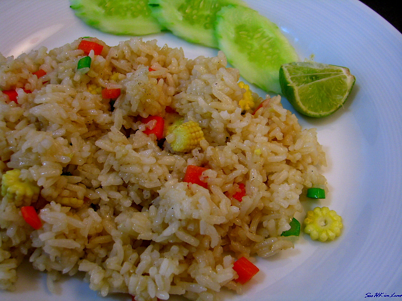 Vegetarian Fried Rice @ Survarnabhumi airport bangkok