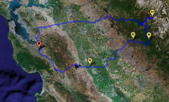 route through CA