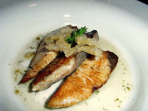 Victoria Kingfish with fritters and Fennel Dressing