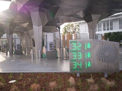 Very modern gas station