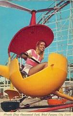 Kiddie-copter at Miracle Strip Amusement Park (stevesobczuk) Tags: seaside florida amusementpark panamacitybeach miraclestrip redneckriviera flatride us98 frontbeachrd helicoptorride 1970spostcard