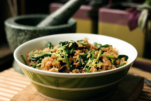Italian Rice and Beans with Lemon Zest