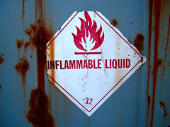 (In)flammable (Jan Egil Kristiansen) Tags: 32 faroeislands flammable dangersign inflammable etymology trshavn froyar dscf3942 fareskilt inflammableliqid flammableliqid flammablesign inflammablesign