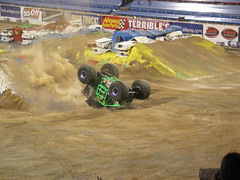 Gravedigger ends his run (jensjonason) Tags: lasvegas crash nevada nv gravedigger monstertruck 2007 monsterjam worldfinals samboydstadium