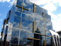 building reflections (Ann Althouse) Tags: building wisconsin reflections madison