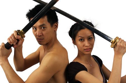 asians with swords! por miss karen