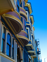 Victorian row houses, North Beach, San Francisco, April 2007 - by Conlawprof