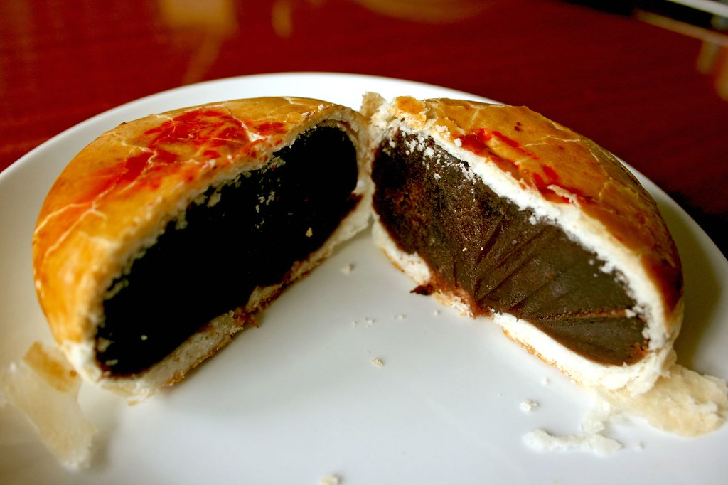 Another view of innards of Red Bean Pastry