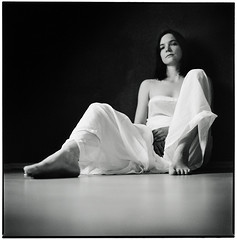 ~~~~~~ Sabine (Thomas Solecki) Tags: portrait woman print square kodak medium format agfa bwdreams