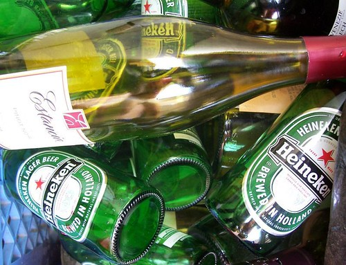 Green Glass Bottles by John_X, on Flickr