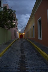 Old San Juan Road 6 a.m. (lightxposr) Tags: dawn brickroad colorfulhouses oldsanjuanpuertorico blueaquinos