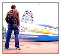 big wheel (Toni_V) Tags: longexposure blur me topv111 d50 switzerland zurich tram zürich slingshot 2007 lowepro sigma1020mm vbz bürkliplatz topvaa gorillapod 200aw toniv slrzoom ©toniv