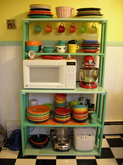 My kitchen hutch (LemonCadet) Tags: kitchen retro hutch fiestaware