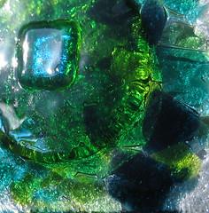 fused glass for Dublin nightclub (RDW Glass) Tags: blue dublin green glass turquoise nightclub fused irredescant rdwglass