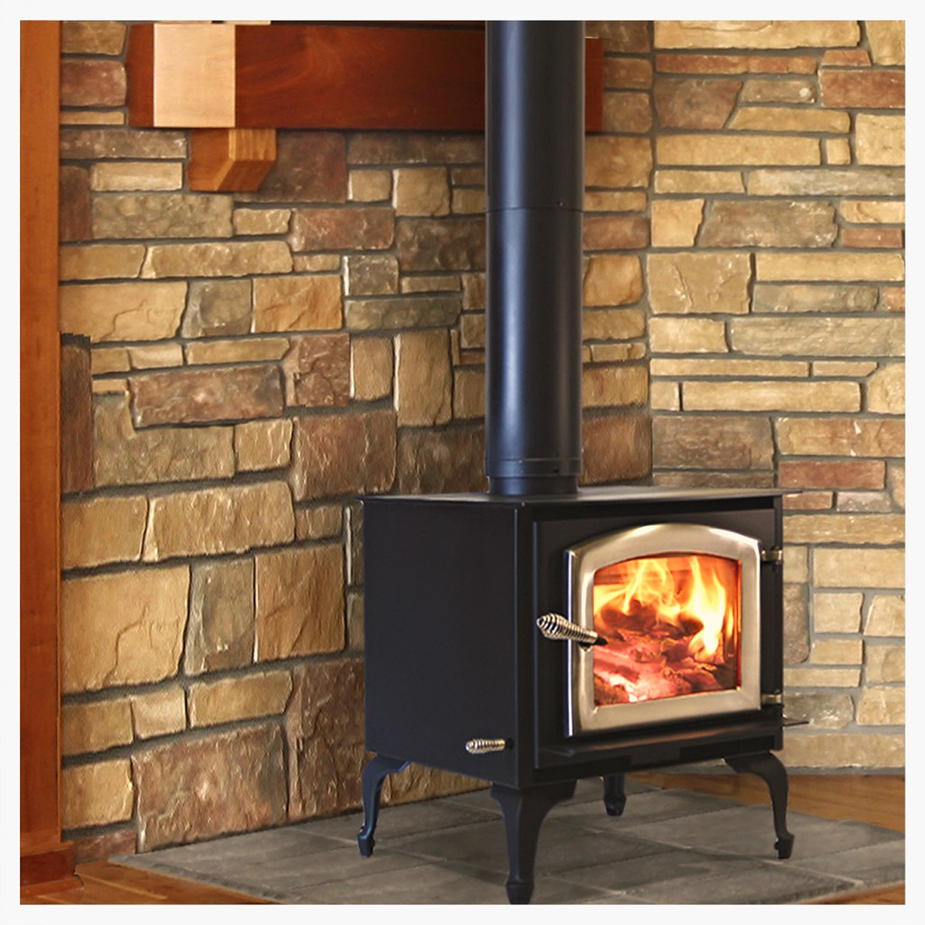 The Aspen adds a modern, flat-top touch to our small stove line-up.  It's also amazingly versatile for installation due to it's low clearance requirements.  With a back wall, side wall, and corner clearance of only 8 inches, the Aspen can fit just about a
