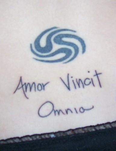 amor vincit omnia tattoo. amor vincit omnia tattoo.