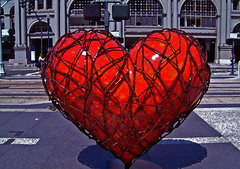 Somebody to Love (Thomas Hawk) Tags: sanfrancisco california sculpture usa art hearts unitedstates heart 10 unitedstatesofamerica fav20 financialdistrict ferrybuilding fav30 fav10 fav25 superfave