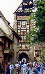 John at Riquewihr, Alsace 1987