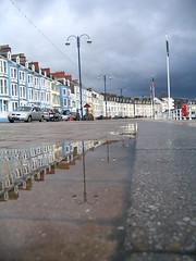 Aberystwyth Prom, wet.