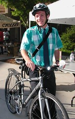 Ben Ready bikes to work in Longmont, Colorado