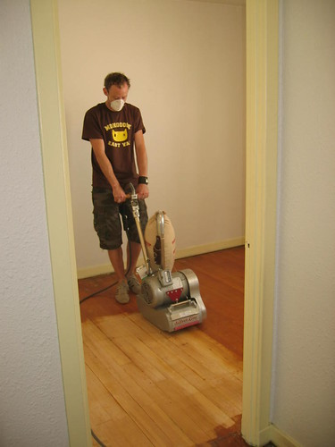 The start of the floor sanding