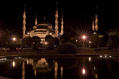 Blue Mosque (brett harkey) Tags: travel 15fav 20d topv111 night turkey brett iwant5 harkey interestingness225 i500 brettharkey brettharkeyfineartphotography wwwharkeyphotocom