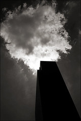touch (davemacintosh) Tags: nyc blackandwhite streetphotography touchthesky