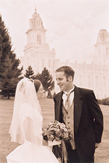 Marlene and Phil at the Manti Temple