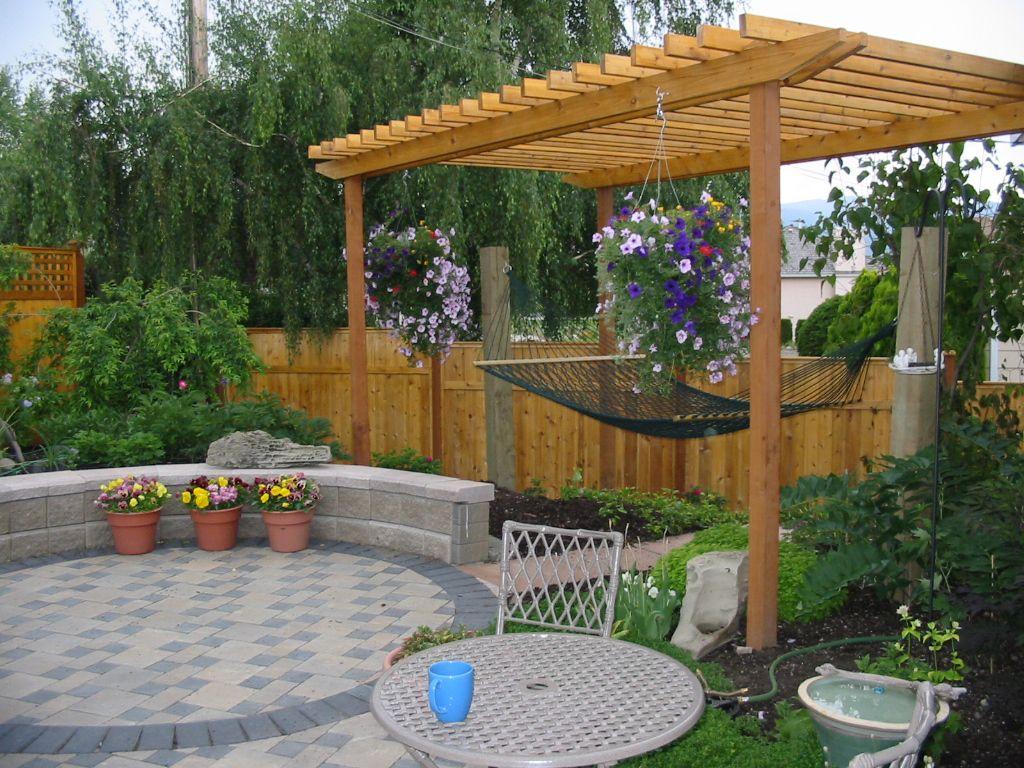 Backyard Hammock Design Hammock Hammock Gardendesign Design Pavers Patio Kelowna Garden