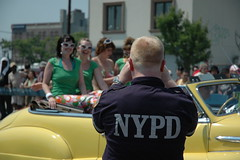 Mermaid Parade: NYPD (LarimdaME) Tags: nyc mermaidparade coneyisland nypd mermaids parade