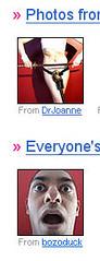 Flickr Coincidence (O Caritas) Tags: screenshot flickr silliness coincidence flickrcoincidence drjoanne bozoduck