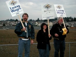 Protest for WalMart to pay living wages