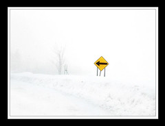 Fog this way! (Imapix) Tags: voyage road travel winter snow canada sign fog photo photographie quebec hiver qubec mostinteresting neige brume imapix yourfavpix favpix gatanbourque copyright2006gatanbourqueallrightsreserved  copyright2006gatanbourqueallrightsreserved gaetanbourque imapixphotography gatanbourquephotography
