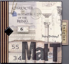 Birthday Card - front (Elena777) Tags: birthday art collage architecture vintage scrapbooking paper interestingness handmade card stamping interestingness245 i500 explore29jun2005