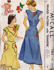 Cherries apron, 1948 (Woof Nanny) Tags: vintage cherries pattern sewing apron smock mccall