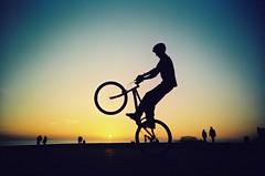 Silhouette Bike Wheelie (lomokev) Tags: urban bike silhouette top20action lomo lca lomography brighton lomolca fahrrad vélo lomograph wheelie fiets bicicletta bicis needfullrez rota:type=showall rota:type=silhouette rota:type=portraits file:name=bgen302 ποδηλατο