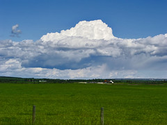 Clouded horizon (JoLoLog) Tags: canada clouds countryside alberta lorien olympusc5050z