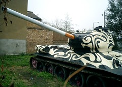 Smoking Gun (StefZ) Tags: london south t34 cigarette t3485 smoking gun pages walk old kent road southwark tank mandela way se1