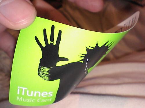ペラペラiTunes Music Card