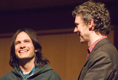 Gael Garcia Bernal and Michel Gondry (eugene) Tags: film festival 2006 gael sundance garcia michel bernal sundancefilmfestival gaelgarciabernal gondry scienceofsleep thescienceofsleep
