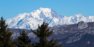 Mont Blanc from Revard point