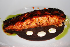ANCHO CHILE-HONEY GLAZED SALMON