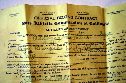 Contract to fight in San Francisco