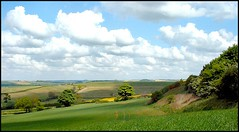 Lincolnshire Wolds near Fulletby (Lincolnian (Brian)) Tags: uk england beautiful clouds landscape perfect lovely1 lincolnshire hills abc crops valleys lincolnshirewolds pointandclick specland