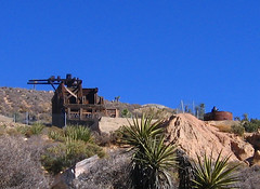 abandoned mine (axiepics) Tags: california park travel family blue sky usa abandoned nature landscape 1 la losangeles nationalpark ruins scenery mine desert d c w rob m forgotten l p joshuatreepark 1on1 joshuatreenationalpark theforgotten lostmine jan07 ©copyrightalexskellyallrightsreserved