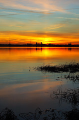 An Alabama Sunset. (BamaWester) Tags: sunset sky reflection water clouds landscape alabama decatur bamawester specland napg analabamasunset