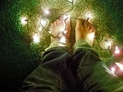 word (aaulwes) Tags: christmas light people green feet digital self holidays toes glow kodak selfportraits christmaslights barefoot glowing
