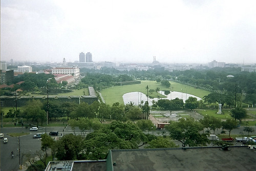View from Manila Hotel, taken before World War II