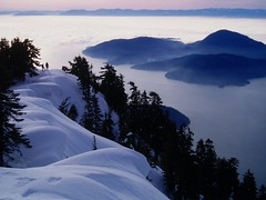 On The Ridge (Dru!) Tags: ocean chris winter sea snow canada water silhouette fog clouds shadows bc britishcolumbia quality sunny vancouverisland annie bowenisland mountaineering howesound inlet fjord straitofgeorgia georgiastraight lionsbay mountharvey impressedbeauty travelerphotos
