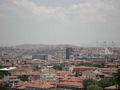 Panorama Bandar Ankara Dari Perkarangan Attaturk Mausoleum, Ankara, Turkey